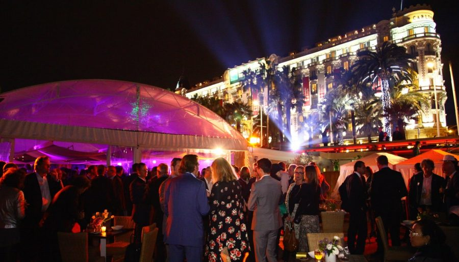 A night at a fancy club in Cannes